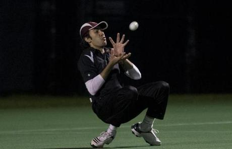 Harvard's Ibrahim Khan bobbled the ball.